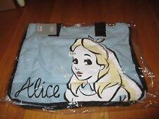 "New Disney Store Alice in Wonderland Blue Large Tote Bag 20"" x 15"""