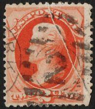 "US Sc# 183 USED { ""PRE-PRINT PAPER FOLD"" SCARCE ERROR } BEAUTY BANKNOTE OF 1879"