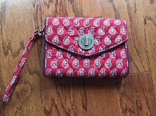 Vera Bradley Turnlock Wallet in Petite Red Bandana Paisley