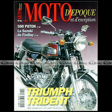 MOTO D'EPOQUE N°21 TRIUMPH 750 TRIDENT ITALJET 350 T SUZUKI TR 500 PATON DKW 250