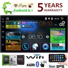 """Quad Core Android 5.1 3G WIFI 7"""" Double 2DIN Car Radio Stereo MP5 Player GPS ED"""