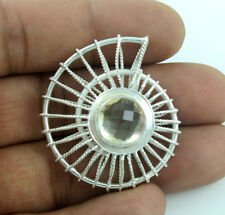 PENDANTS NATURAL CITRINE GEMSTONE SOLID 925 STERLING SILVER JEWELRY 10.1 GM