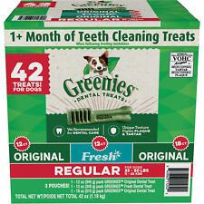 Greenies Daily Dental Dog Treats Chews Regular Size Pick  Count & Flavor Sealed