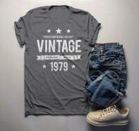 Men's 40th Birthday T Shirt Original Vintage Shirt Awesome Since 1979 Gift Idea