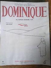 Sheet Music 1963 Dominique The Singing Nun Soeur Sourire Noel Regney