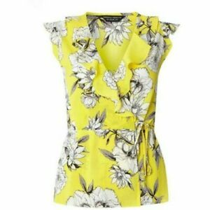 BNWT Dorothy Perkins Yellow Floral Wrap Top