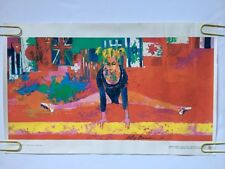 Vintage Olympics Poster Burger King *76 Gymnastics Olympic pin-up Neiman Gymnast
