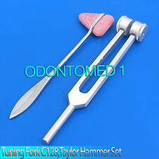 NEW Tuning Fork 128C & Taylor Hammer ENT Surgical Medical Instruments Set