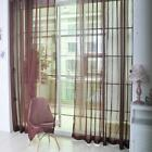 Colorful Sheer Curtain Panel Window Balcony Tulle Room Divider Valances EB