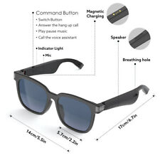 More details for bluetooth smart sunglasses hands-free audio glasses fit computer reading cycling
