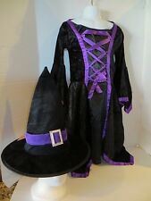 Girls Witch Costume Black Dress-up  Sz L
