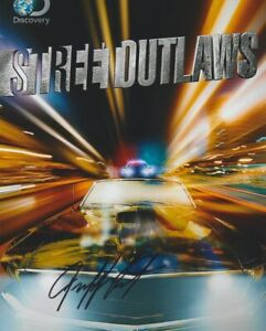 Jeff Lutz signed Discovery Street Outlaws 8x10 Photo