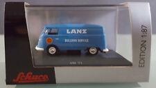 Schuco Edition 1:87 VW  T1 Transporter Lanz Bulldog Service blau Vitrinenbox NEU