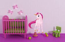 Einhorn Pferd Kinderzimmer Mädchen Wandtattoo farbig 30 x 42cm Motiv #118A