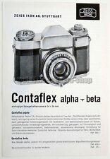 ZEISS IKON Prospekt CONTAFLEX alpha & beta PANTAR STERITAR D Kamera (X2426