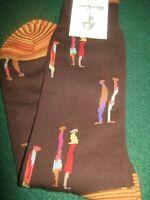 "Robert Graham WHITTAKER Socks Dress/Casual (NWT) ""BROWN"" Men's Shoe SZ (6/12)"