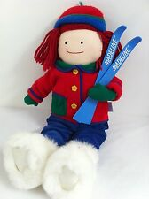"Madeline 21"" Rag Doll French Girl Winter Ski Snow Boot Outfit Soft Plush Holiday"