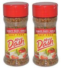Mrs Dash Tomato Basil Garlic Salt-Free Seasoning Blend 2 Bottle Pack