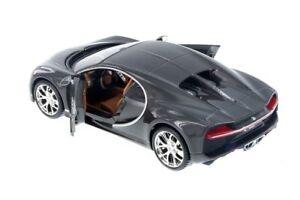 Maisto Bugatti Chiron 1:24 Diecast Model Toy Car 34514 Gray New