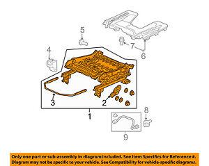HONDA OEM 03-06 Element Seat Track-Seat Adjuster Left 81536SCVA51