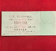 QBH Nightclub - CUB Ringpull - Bodyjar Concert Ticket - August 2001