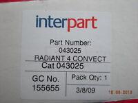 Baxi Bermuda B C3 C3W C4 & C4W Gas Fire Radiant 043025
