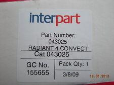 Baxi Bermuda Pw3 pw4 Deluxe & W3 Gas Fire radiante 043025