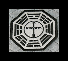 """LOST Dharma Initative Embroidered patch """"Arrow"""" (White BG)"""
