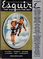 1941 Esquire October - Superman of Baseball, Frances Farmer; Cars of the future