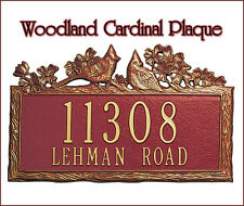 Whitehall Woodland Cardinal Address Plaque Personalized Sign 17 Color Choices