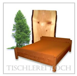 ZIRBENBETT-Massivholzbett aus Zirbenholz
