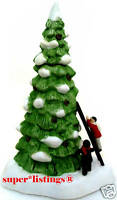 Dept. 56 Lighted Tree with Children & Ladder Retired 1990 Battery Operated 65102
