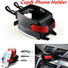 Adjustable Car Drink Stand 2in1 Car Air Vent Cup  with Cell phone Mount Holder