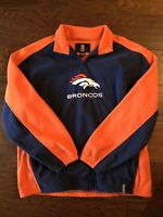 Reebok Denver Broncos Mens Size XL Fleece Jacket 1/4 Zip Pullover Logo NFL