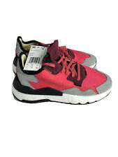 Adidas New Womens Originals Nite Jogger Running Shoes Pink/Maroon EE6441 Size 7