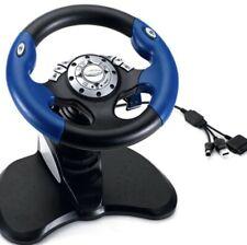 INTEC Racing Steering Wheel & Pedals PS1 PS2 Gamecube Xbox New in Original Box