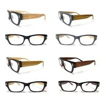 H. Duncan Wood-Textured Temple Unisex Mens Womens Reading Glasses / Sunglasses