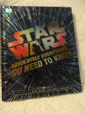 Star Wars Absolutely Everything You Need To Know (Hardcover)  NEW