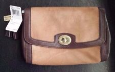 Coach Legacy Haircalf Large Flap Clutch Brass Camel F48042 New Retail $398 Rare