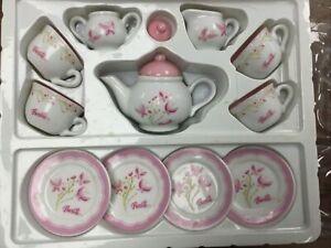 Vintage Barbie - 13 Piece China Tea Set - Rare Design