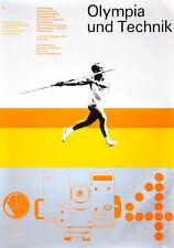 """Olympische Spiele 1972 München Motiv """"Olympia und Technik"""" KULTUR-EDITION DIN A0"""