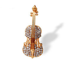 Elegant Brooches Women Wedding Gold Plated Music Violin Brooches Gift Jewelry
