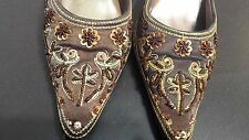 CRYSTAL SHOES SZ 7.5 WITH STONES FOR WOMENS