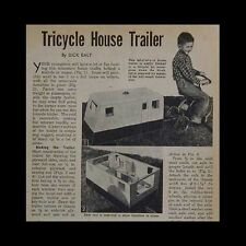 Tricycle Dollhouse House Trailer Mobile Home 1956 HowTo build PLANS