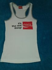 COCO COLA LADIES SMALL TANK TOP ACTIVE SUMMER WORKOUT SPORTS WEAR