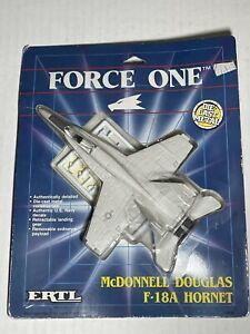 Vintage 1989 ERTL Force One Diecast Metal McDonnell Douglas F-18A Hornet