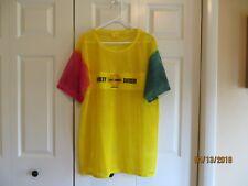 Island Tees Unisex Harley Davidson Jamaica Yellow Fishnet Shirt Size XXL