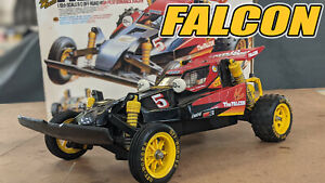 Vintage Tamiya Falcon RC Buggy 1986 AMPRO UPGRADES Box Manual Battery ESC RTR