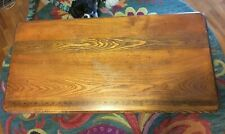 early1900s sewing craft foldable table with printed ruler