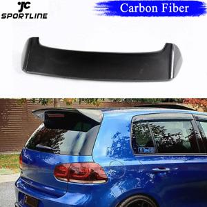 Fit for VW GOLF 6 MK6 VI GTI R20 2010-15 Rear Roof Spoiler Top Wing Carbon Fiber